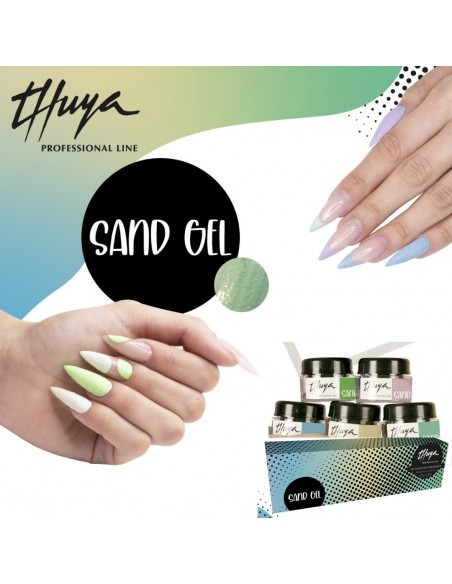 Kit Sand Gel. 5 unidades Sand Gel 5ml + 1 pincel Ovel Gel